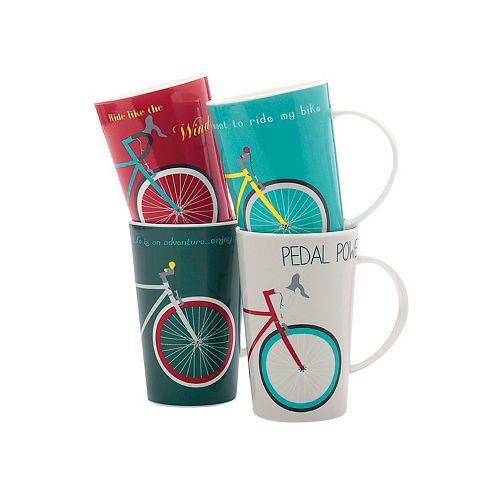 Treadly Pedaly Mug 420 ml - set of 4