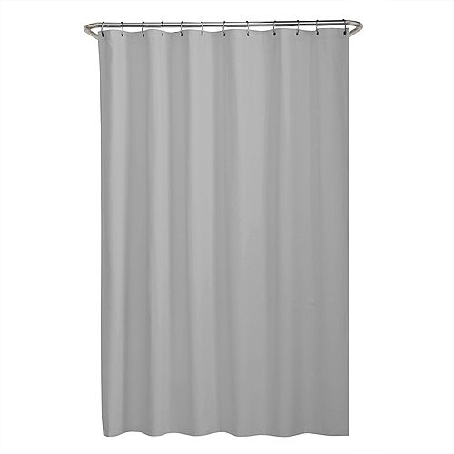 70 inch x 72 inch Dobby Fabric Shower Curtain Liner in Grey