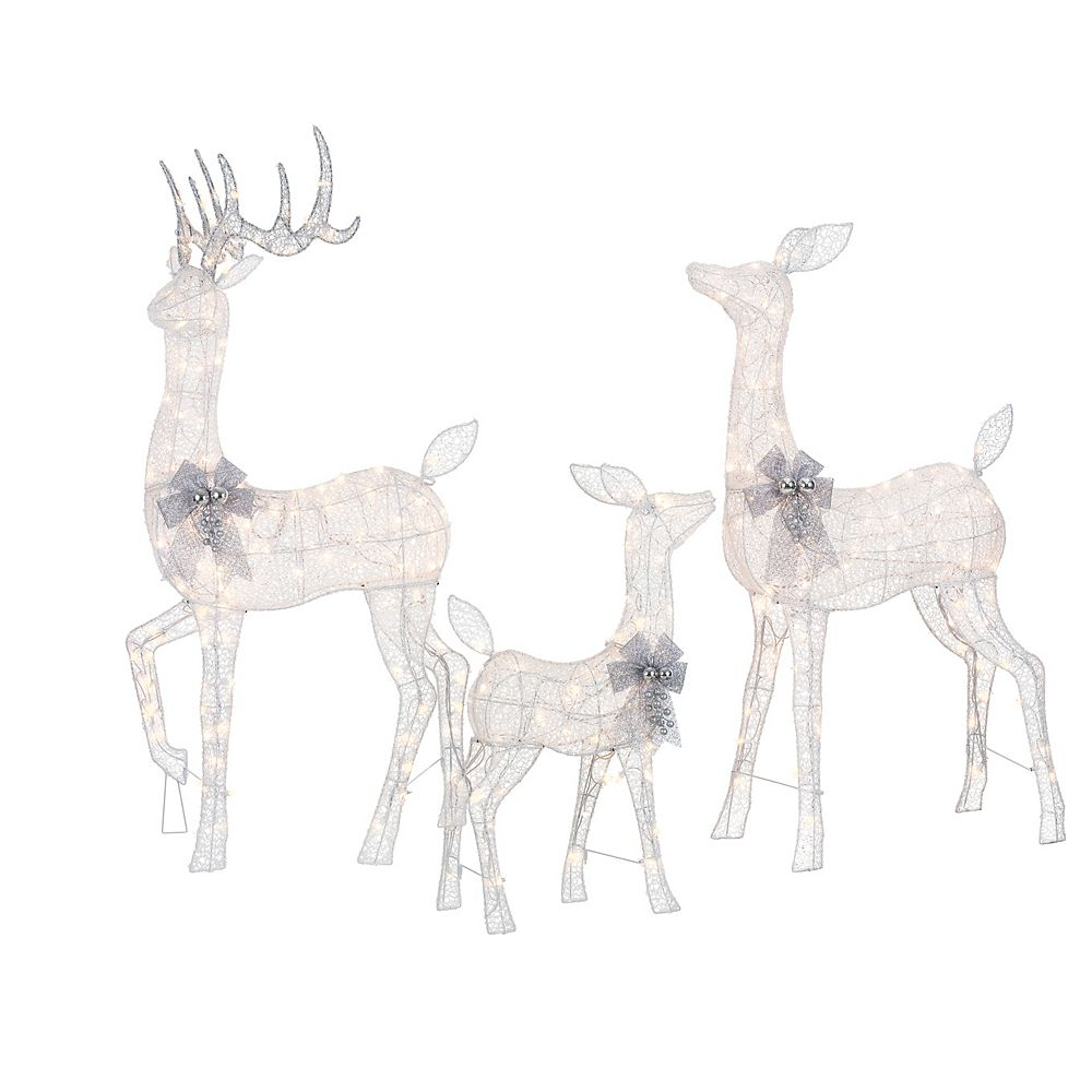 Home Accents Holiday 3-Piece Deer Scene