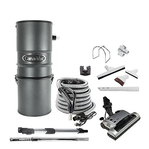 Powerful DELUXE Central Vacuum Elec Pkge, 756 Maximum Air Watts, all Steel Construction