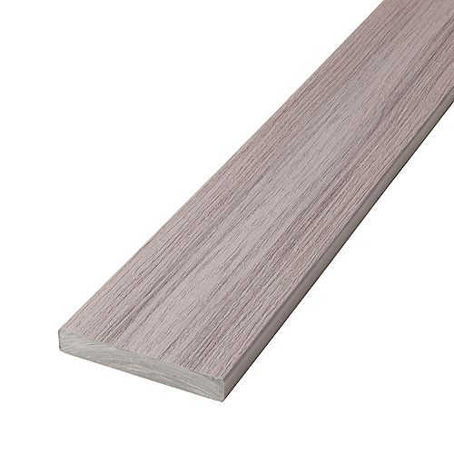 12 Ft. Composite Capped Solid Decking - Fieldstone Grey