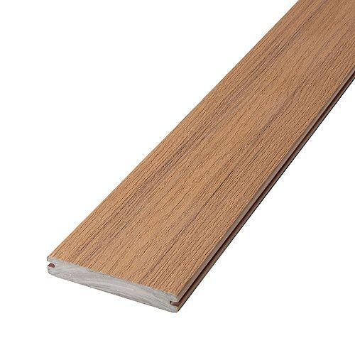 16 Pi Planche de terrasse en composite, rainurée et encapsulée- Timberline Brown