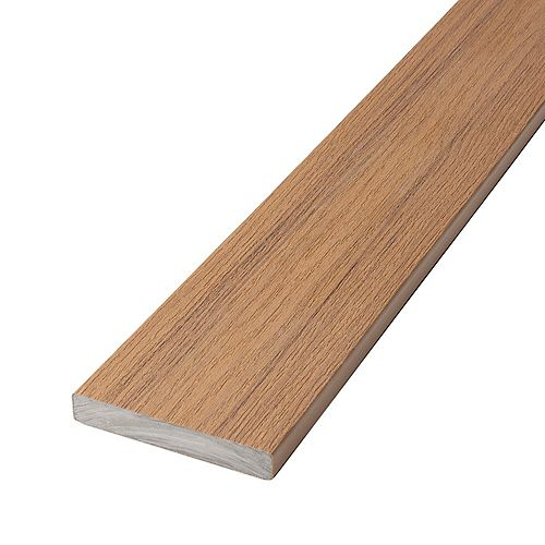 12 Ft. Composite Capped Solid Decking - Timberline Brown