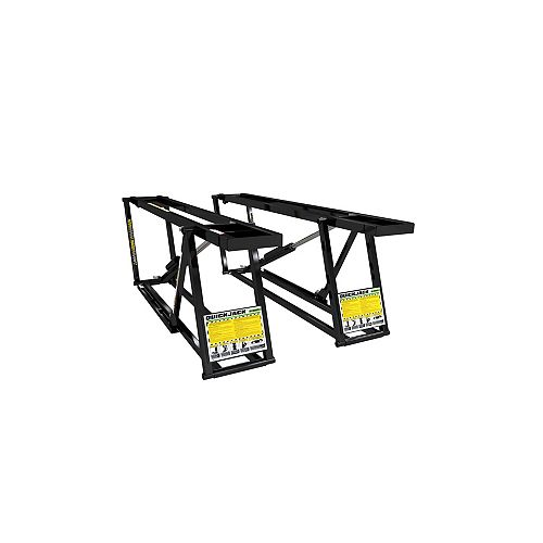 5,000 lbs. Capacity Portable Car Lift Bundle Package with 4pc pinch weld blocks and wall hangers