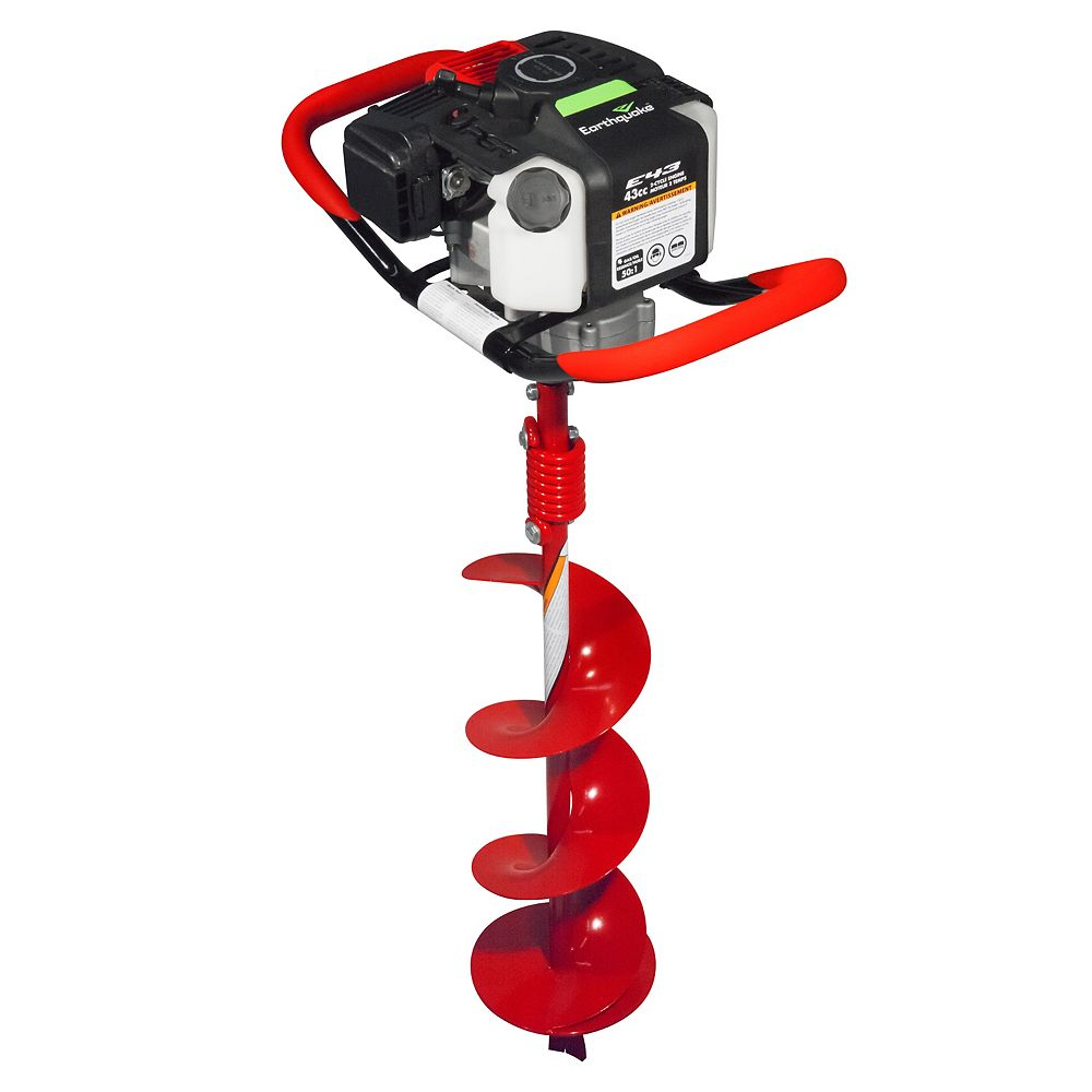 Earthquake Earthquake 35064 Earth Auger Powerhead with 8 Auger Bit Combo,1-Man 43CC Two Cycle Engine