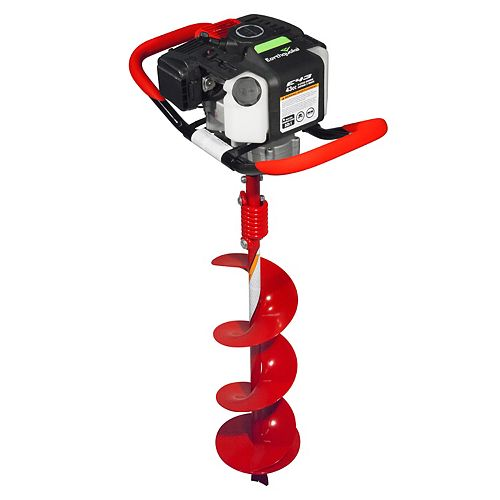 Earthquake 35064 Earth Auger Powerhead with 8 Auger Bit Combo,1-Man 43CC Two Cycle Engine