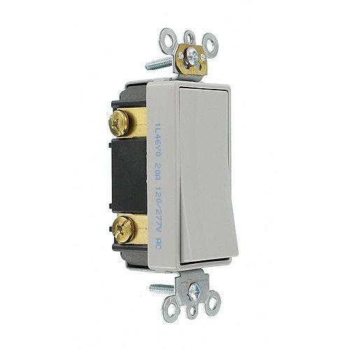 Leviton Decora 20A Switch 3-Way Commercial Grade, Gray