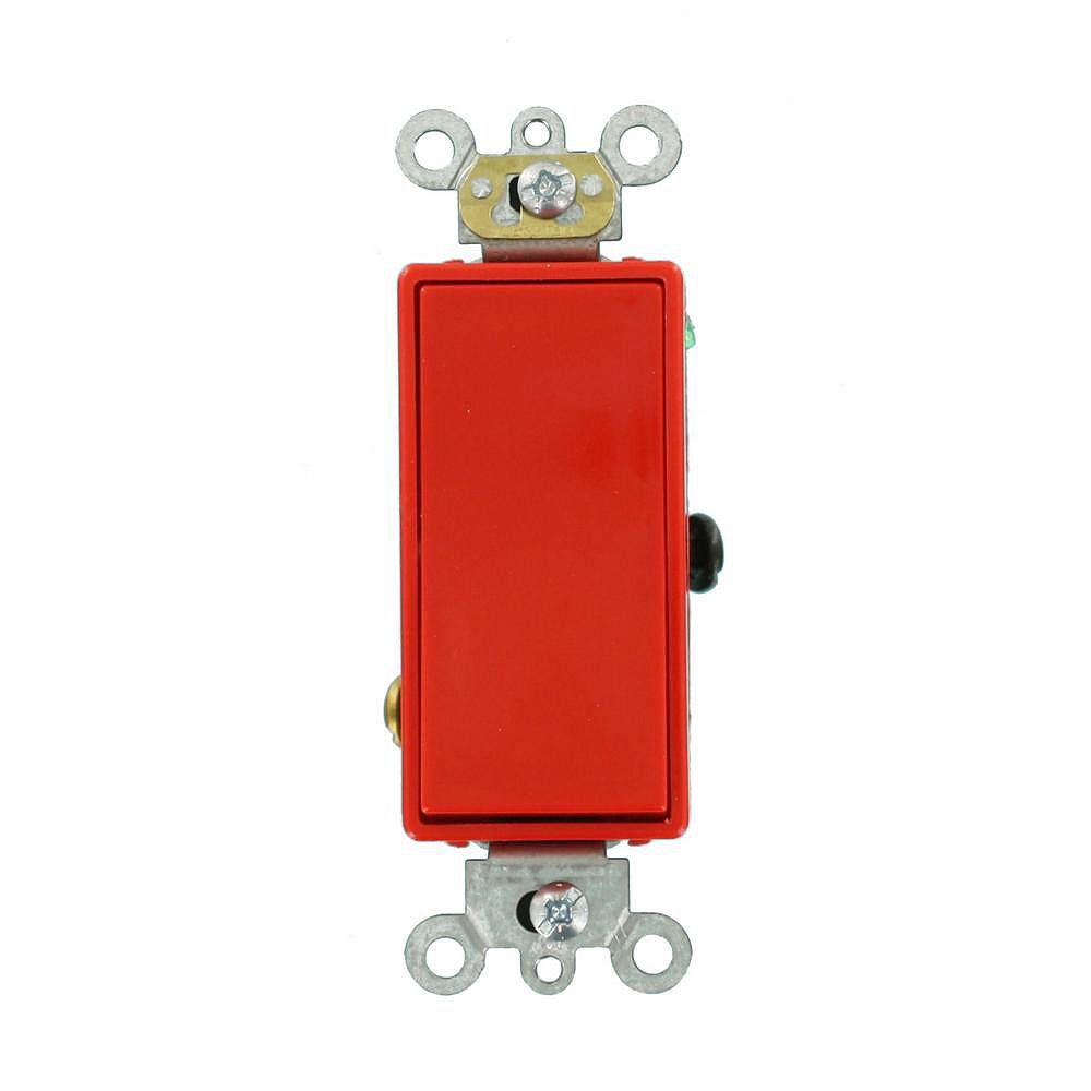 Leviton Decora 20A Switch 3-Way Commercial Grade, Red