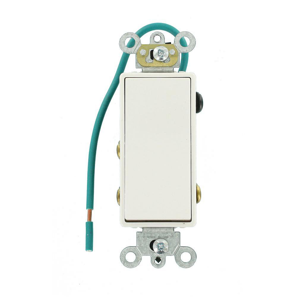 Leviton Decora 15A Switch Double-Pole Double Throw Center Off Maintained Contact, White