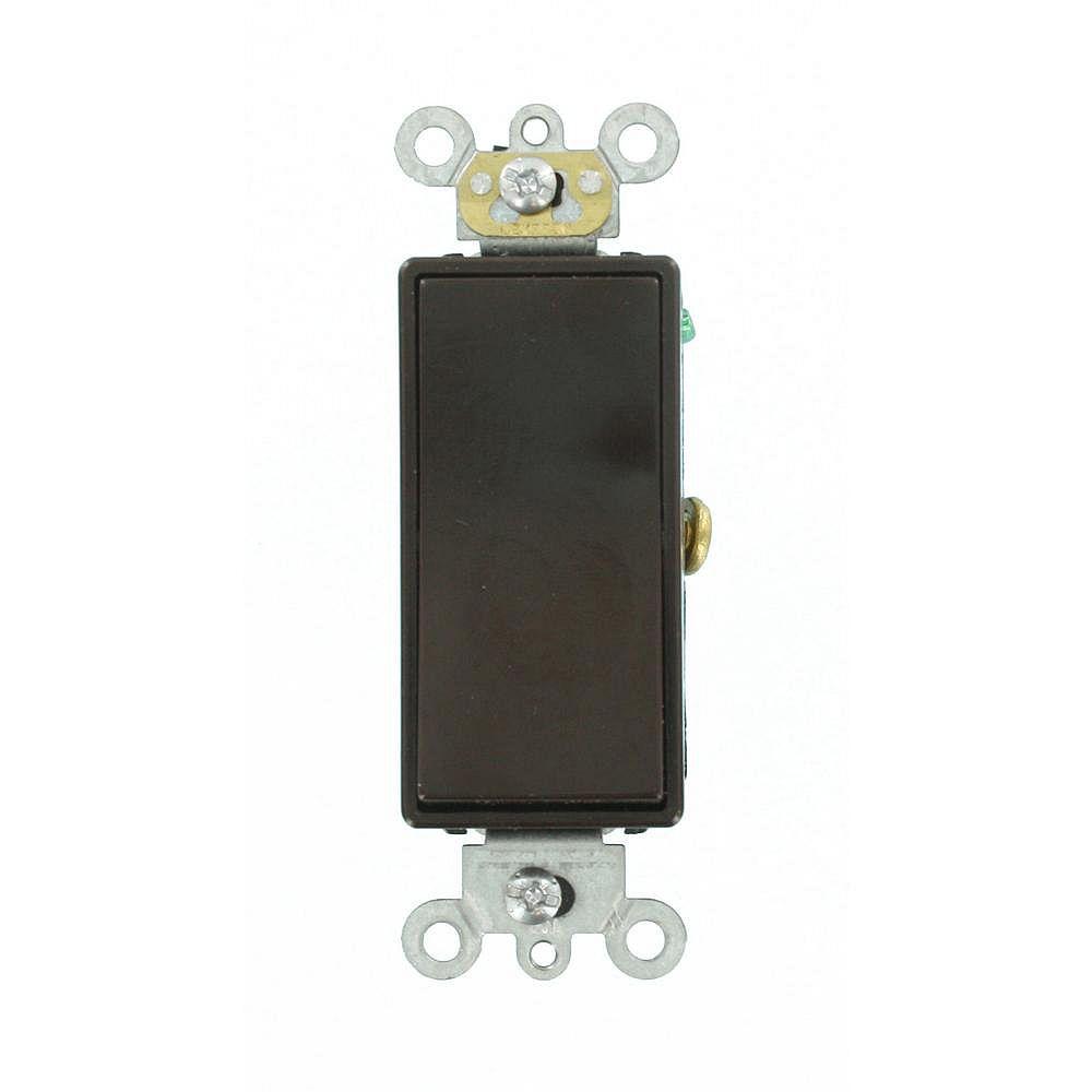 Leviton Decora 15A Switch Single-Pole Commercial Grade, Brown