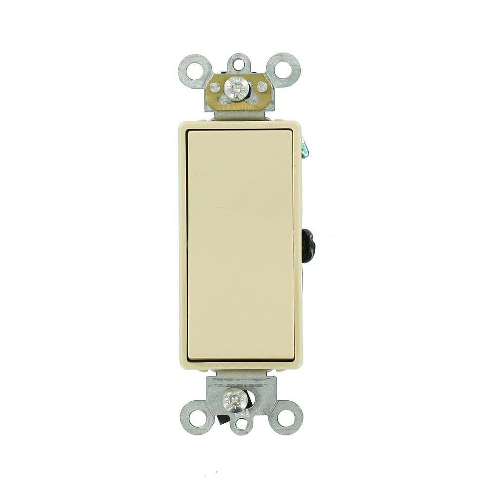 Leviton Decora 15A Switch 3-Way Commercial Grade, Ivory