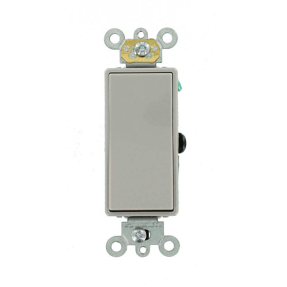 Leviton Decora 15A Switch  3-Way Commercial Grade, Gray