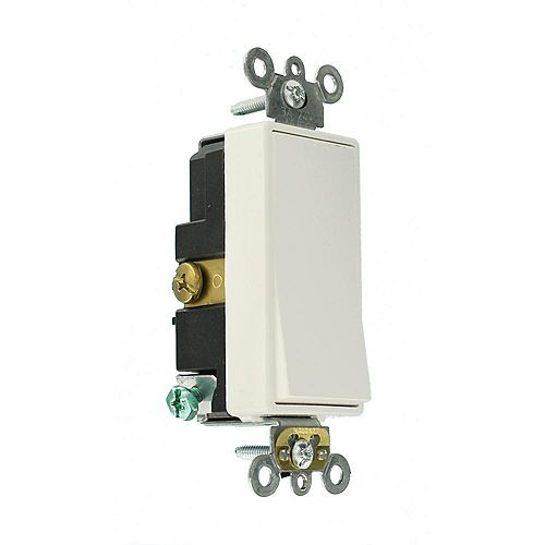 Decora 3A Switch 24V Double-Throw Momentary Contact Single-Pole, Ivory