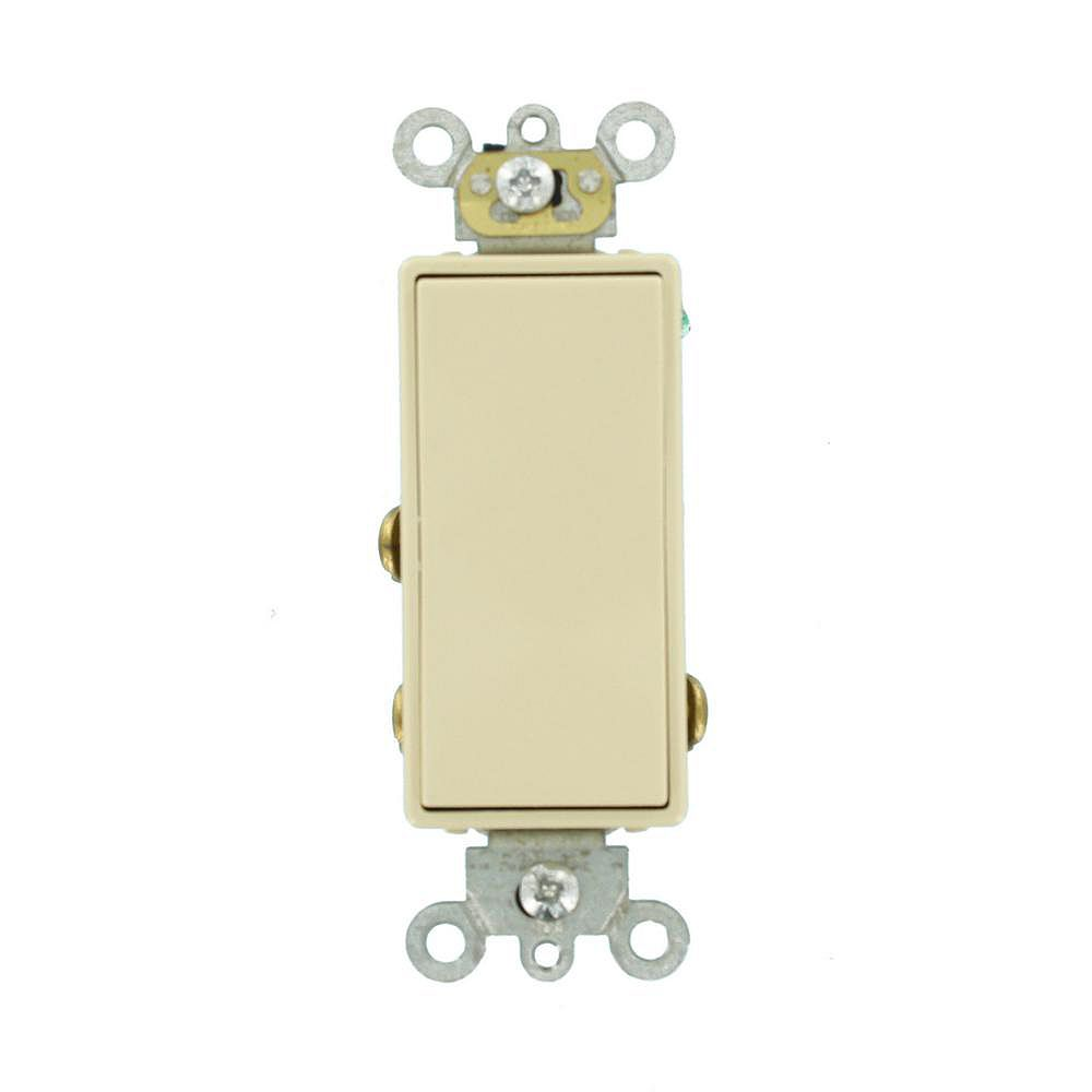 Leviton Decora 3A Switch 24V Double-Throw Momentary Contact Single-Pole, White
