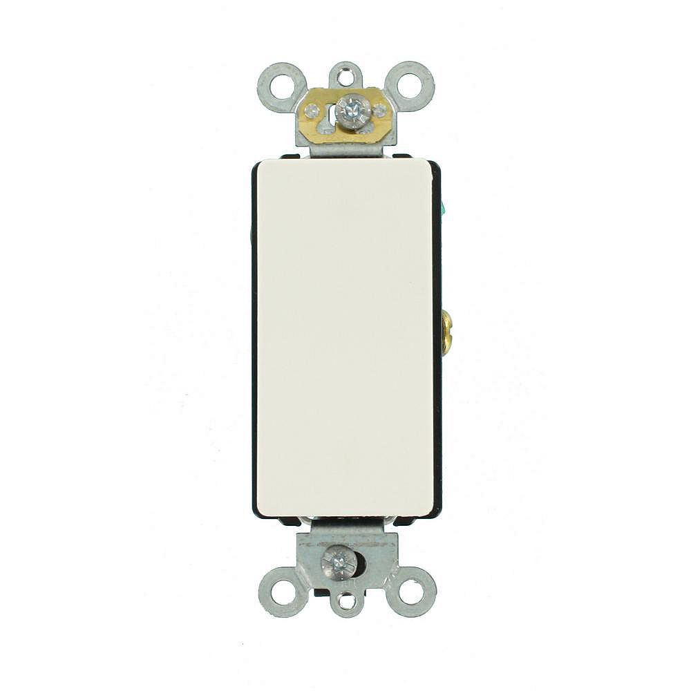 Leviton Decora 20A Switch Antimicrobial Treated Single-Pole, White