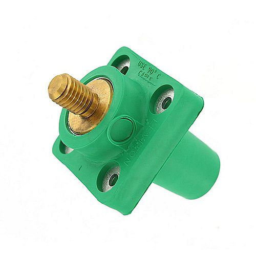 300 Amp 16-Series Taper Nose Male Plug Contact and Insulator Detachable Cam-Type, Red