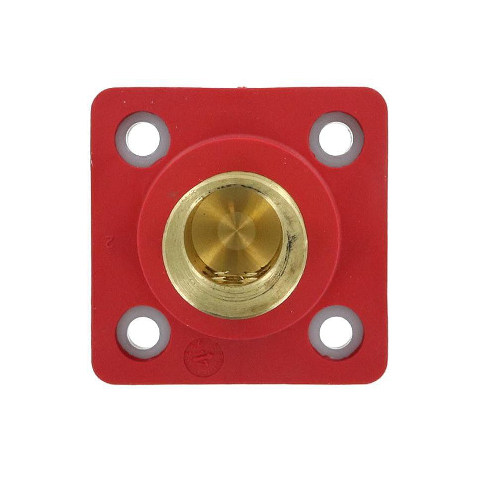 Leviton 400 Amp 16 Series Taper Nose Male Panel Receptacle 90° Cam-Type, Red