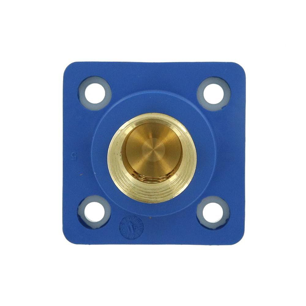 Leviton 400 Amp 16 Series Taper Nose Male Panel Receptacle 90° Cam-Type, Blue