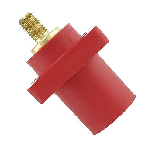 400 Amp 16 Series Taper Nose Male Panel Receptacle 90° Cam-Type, Red