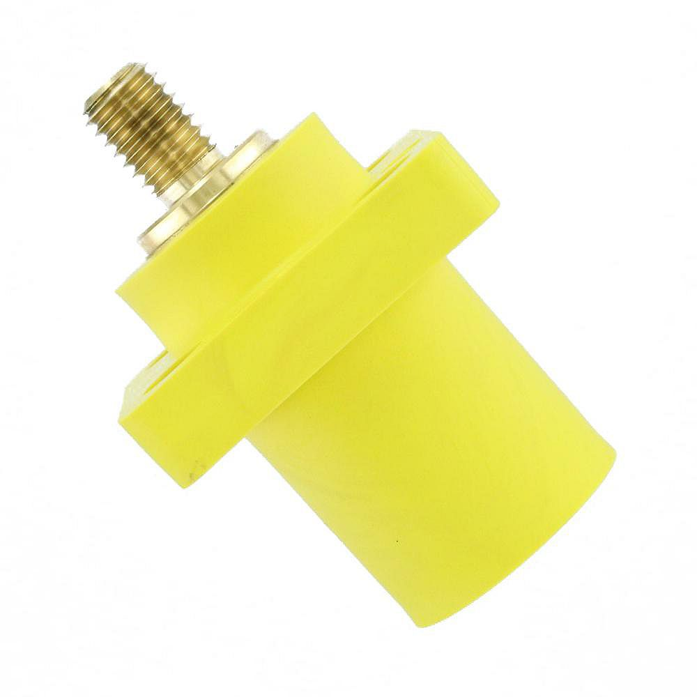 Leviton 400 Amp 16 Series Taper Nose Male Panel Receptacle 90° Cam-Type, Yellow