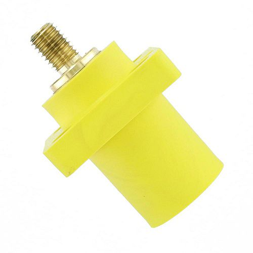 400 Amp 16 Series Taper Nose Male Panel Receptacle 90° Cam-Type, Yellow