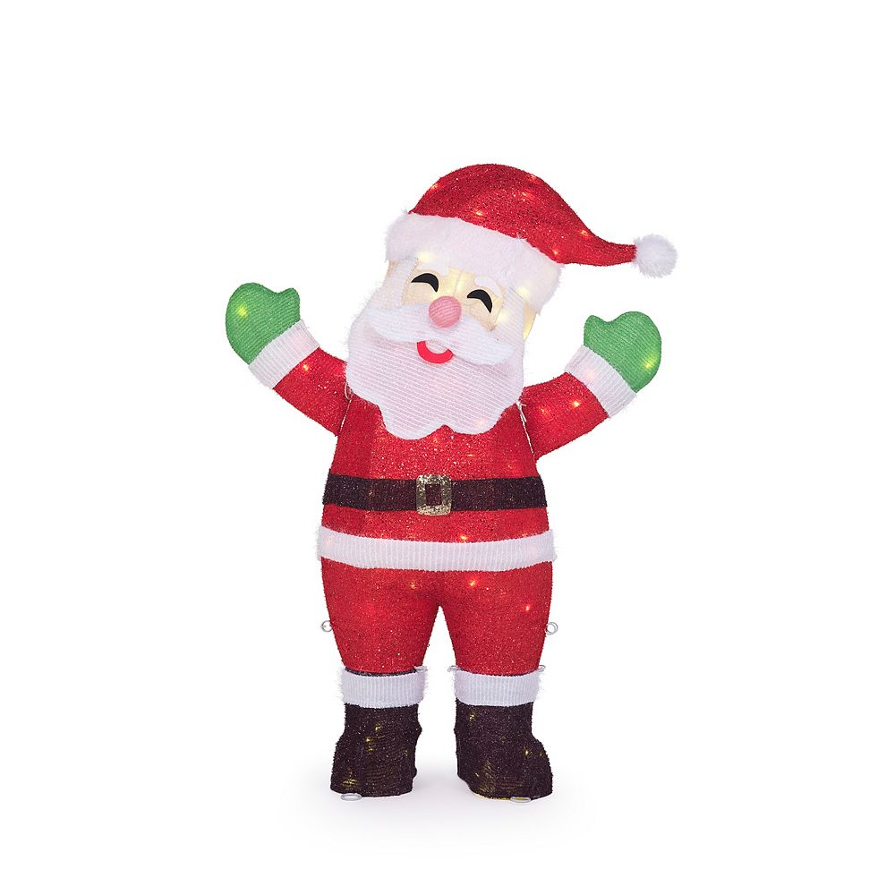 Home Accents Holiday 36IN 80L LED TINSEL SANTA