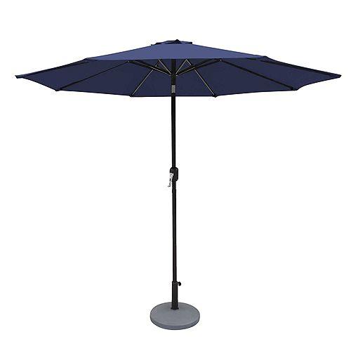 Island Umbrella 9' Oct Market Umbrella w/ Mister Kit Navy Blue - Olefin