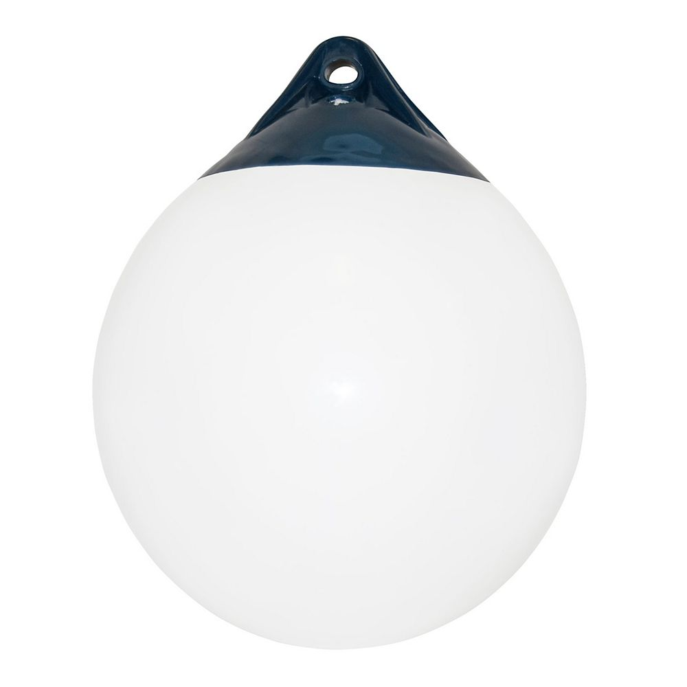 Dock Edge Buoy, 20 inch, White, Commercial