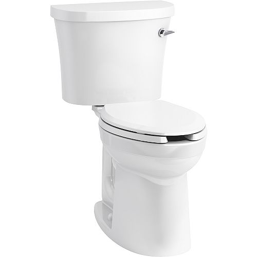 KOHLER Kingston Two-piece Elongated 1.28 Gpf Toilet in White