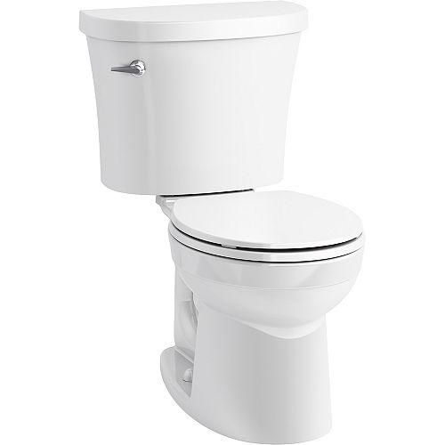 Toilette deux pièces arrondie Kingston, 1,28 gal/chasse, avec levier de déclenchement à gauche
