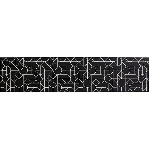 Tailor 34-3/4-inch Etched Stone insert in Nero Marquina Marble