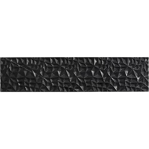 Tailor 34-3/4-inch Carved Stone insert in Nero Marquina Marble