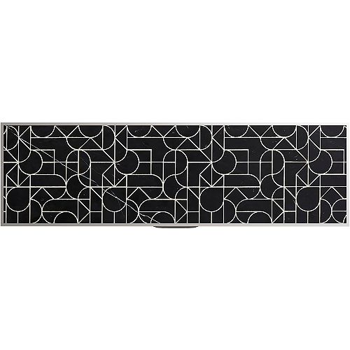 Tailor 28-3/4-inch Etched Stone insert in Nero Marquina Marble