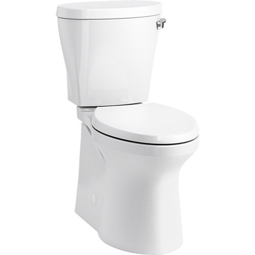 KOHLER Betello Comfort Height Two-piece Elongated 1.28 Gpf Toilet with Skirted Trapway in White