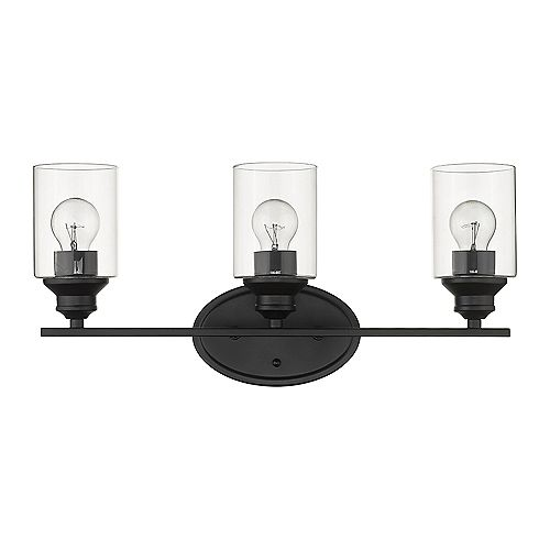 Acclaim Lighting Gemma 3-Light Matte Black Vanity