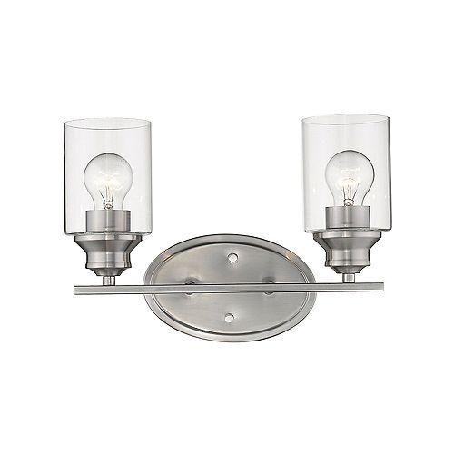 Acclaim Lighting Gemma 2-Light Satin Nickel Vanity