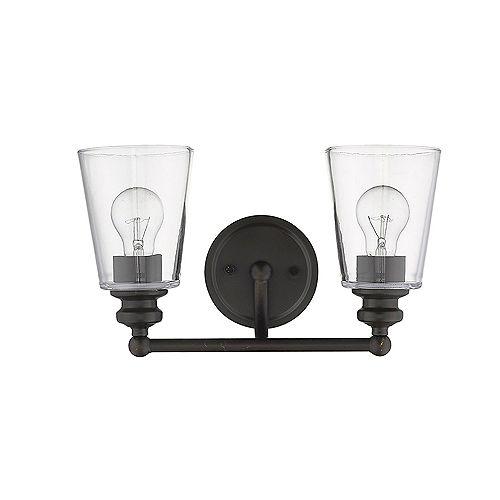 Applique Ceil à 2 ampoules en Bronze