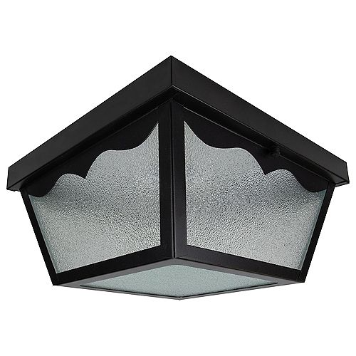 Builders' Choice 1-Light Outdoor Flushmount in Matte Black