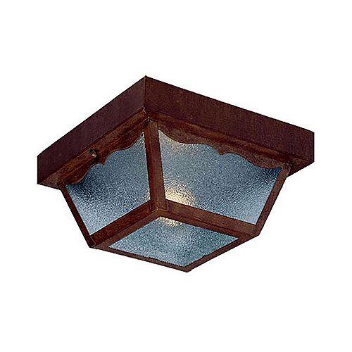 Builders' Choice 1-Light Outdoor Flushmount in Burled Walnut