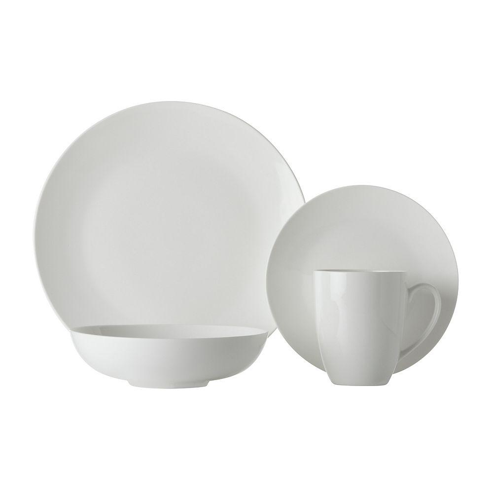 Maxwell & Williams Basic White Fitz 16 piece dinnerware set