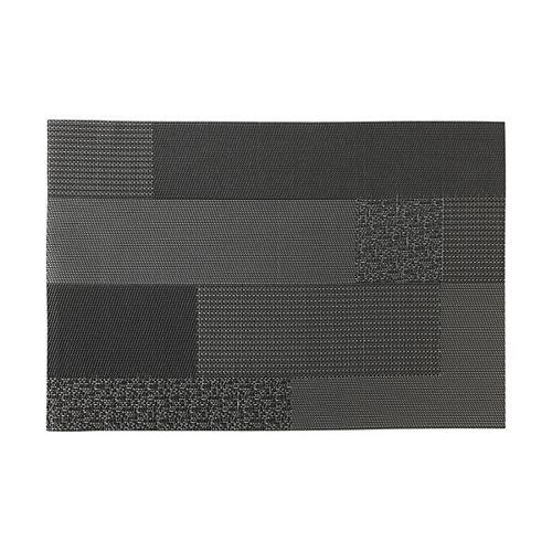 Blocks Black Placemat - Pack of 12