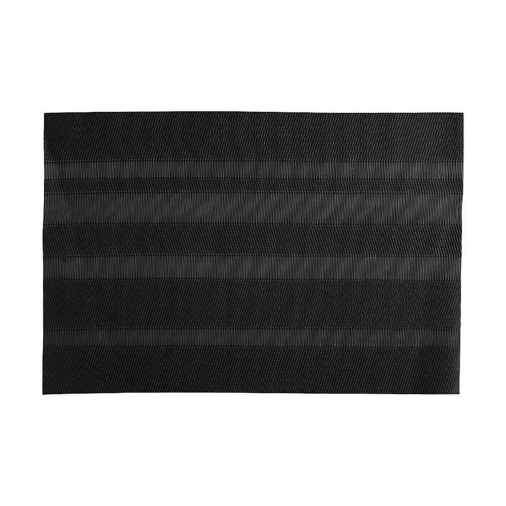 Maxwell & Williams Loom Black Placemat - Pack of 12