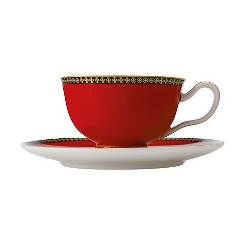 T&C's Contessa Classic Red cup and saucer 200 ml - Pack 2