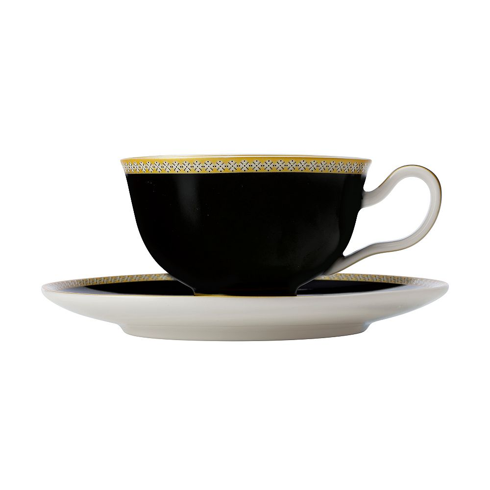 Maxwell & Williams T&C's Contessa Classic Black cup and saucer 200 ml - Pack 2