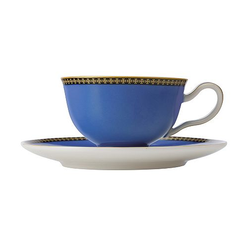 T&C's Contessa Classic Blue cup and saucer 200 ml - Pack 2