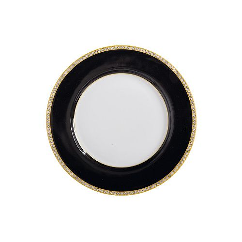 T&C's Contessa Classic Black plate 19 cm - Pack 4