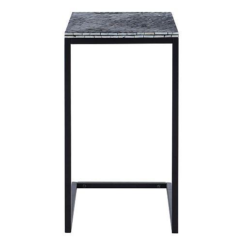 Linon Home Décor Products Evie Mosaic Accent C Table Black