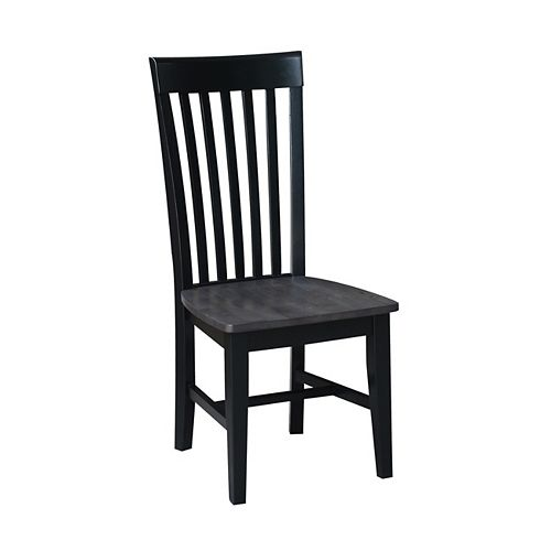 International Concepts Black/Coal Tall Mission Chair (Set of 2