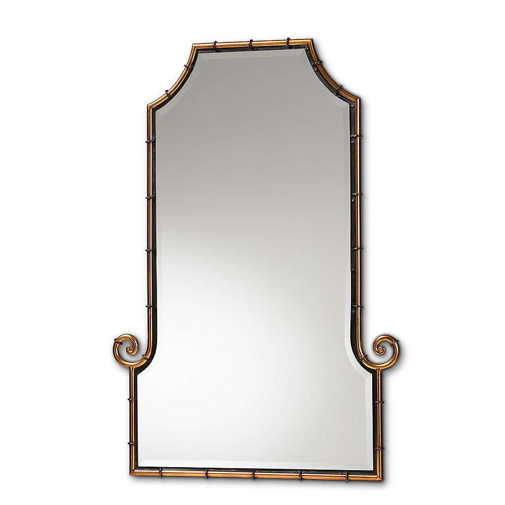 Baxton Studio Layan Unique Wall-Mounted Mirror in Gold