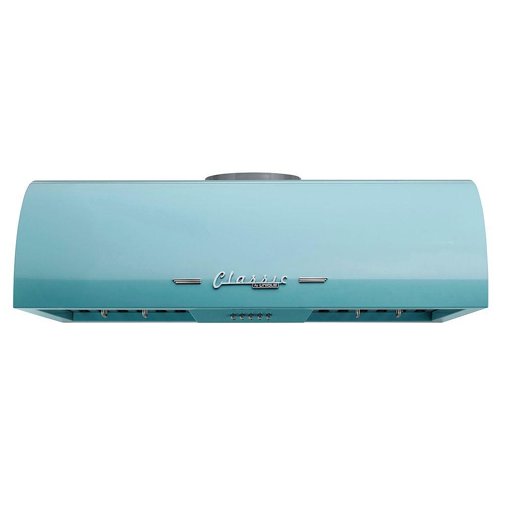 """Unique Appliances Classic Retro 30"""" 700 CFM Under Cabinet Range Hood in Ocean Mist Turquoise"""
